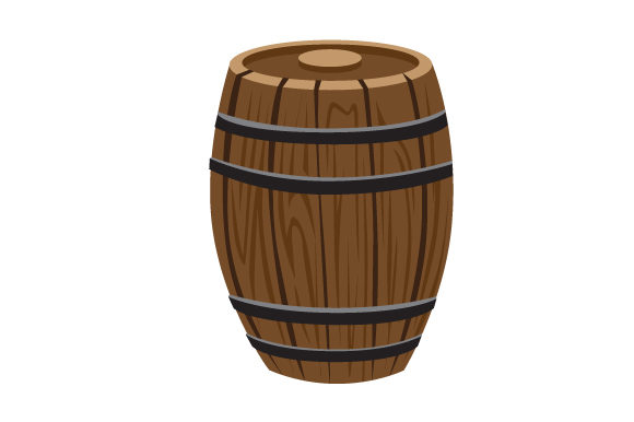 Realistic Wooden Barrel Svg Cut File By Creative Fabrica Crafts