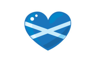 Realistic Heart with Scotish Flag Craft Design By Creative Fabrica Crafts
