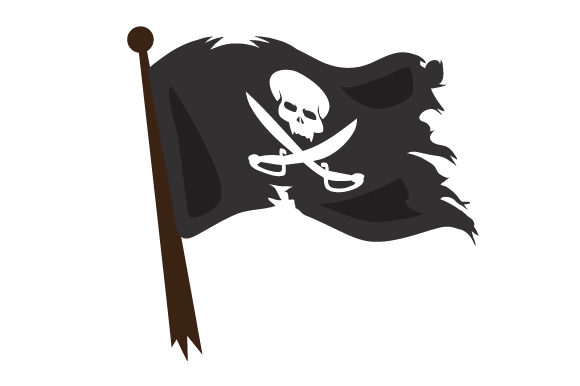 Realistic Pirate Flag Svg Cut File By Creative Fabrica Crafts