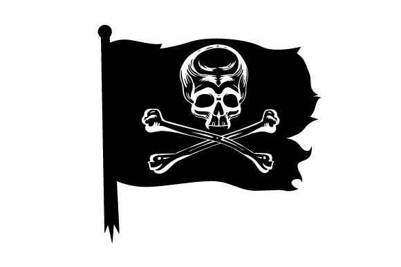 Download Free Realistic Pirate Flag Svg Cut File By Creative Fabrica Crafts for Cricut Explore, Silhouette and other cutting machines.