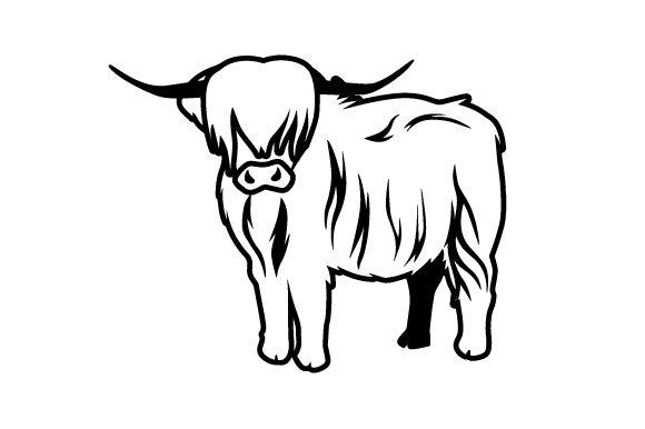 Download Free Realistic Scottish Highland Cow Svg Cut File By Creative Fabrica for Cricut Explore, Silhouette and other cutting machines.