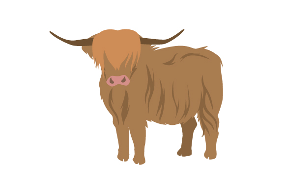 Realistic Scottish Highland Cow Svg Cut File By Creative