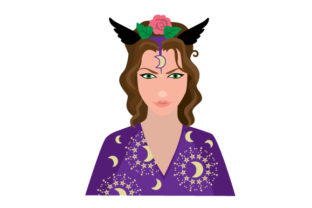 Realistic Witch Face Pagan Craft Cut File By Creative Fabrica Crafts