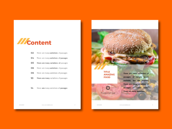 Recipe Ebook Powerpoint Template Graphic By rivatxfz Image 2