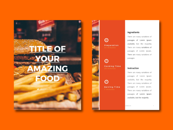 Recipe Ebook Powerpoint Template Graphic By rivatxfz Image 3