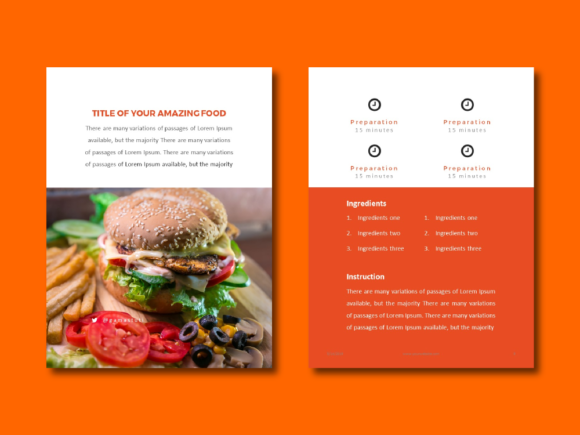 Recipe Ebook Powerpoint Template Graphic By rivatxfz Image 4
