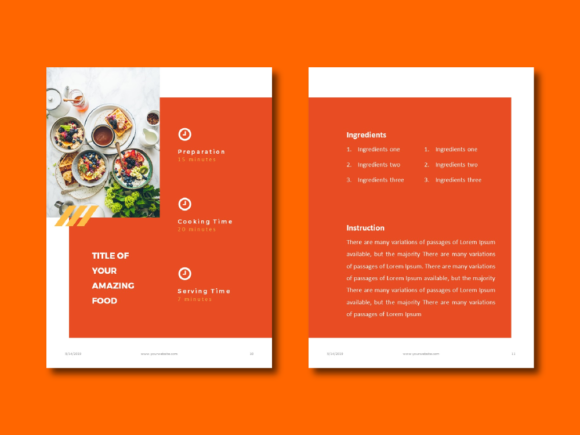 Recipe Ebook Powerpoint Template Graphic By rivatxfz Image 5
