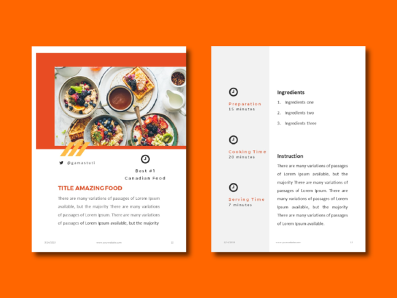 Recipe Ebook Powerpoint Template Graphic By rivatxfz Image 6
