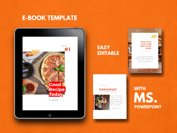 Recipe Ebook Powerpoint Template Graphic By rivatxfz Image 1