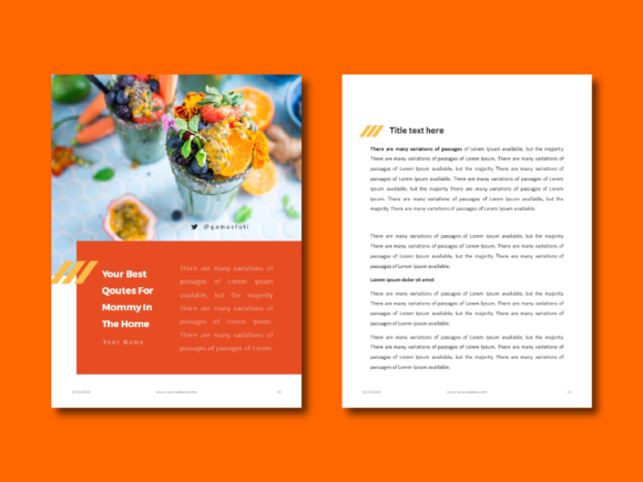 Recipe Ebook Powerpoint Template Graphic By rivatxfz Image 7