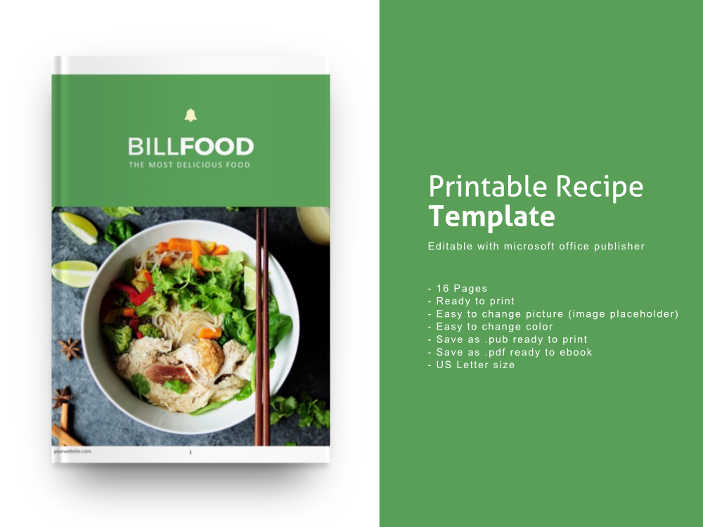 Download Free Recipe Ebook Publisher Template Graphic By Rivatxfz Creative for Cricut Explore, Silhouette and other cutting machines.