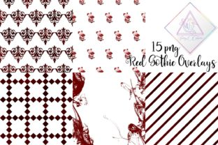 Red Gothic Overlay Clipart Graphic By fantasycliparts