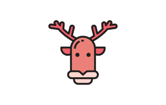 Download Free Reindeer Graphic By Matfine Creative Fabrica for Cricut Explore, Silhouette and other cutting machines.
