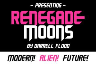 Renegade Moons Font By Dadiomouse