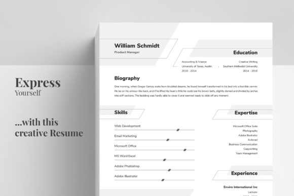 Resume/CV Template - William Graphic Print Templates By Shemul - Image 2