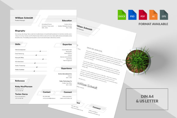 Resume/CV Template - William Graphic Print Templates By Shemul - Image 3