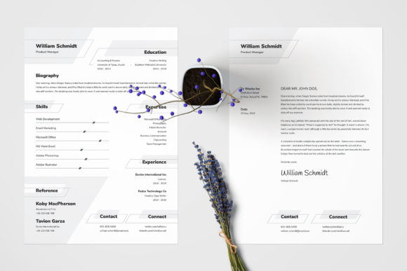 Resume/CV Template - William Graphic Print Templates By Shemul - Image 4