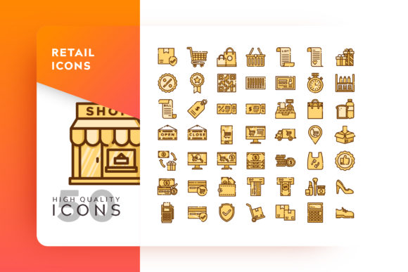 Retail Icon Packs Graphic By Goodware.Std Image 1