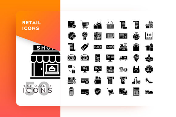 Print on Demand: Retail Icon Packs Graphic Icons By Goodware.Std - Image 1