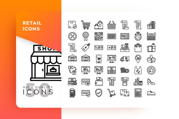 Print on Demand: Retail Icons Packs Graphic Icons By Goodware.Std