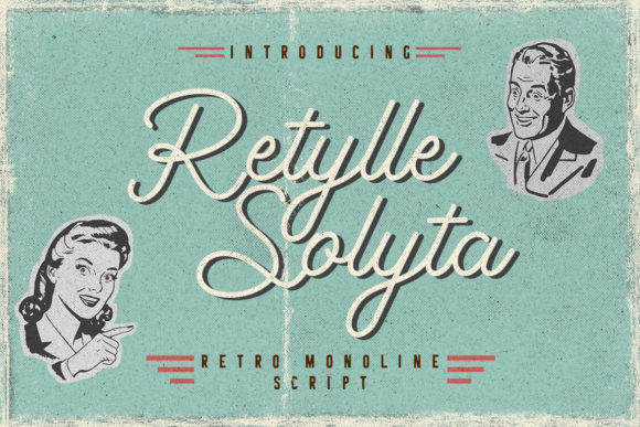 Print on Demand: Retylle Solyta Script Script & Handwritten Font By CreatypeStudio - Image 1