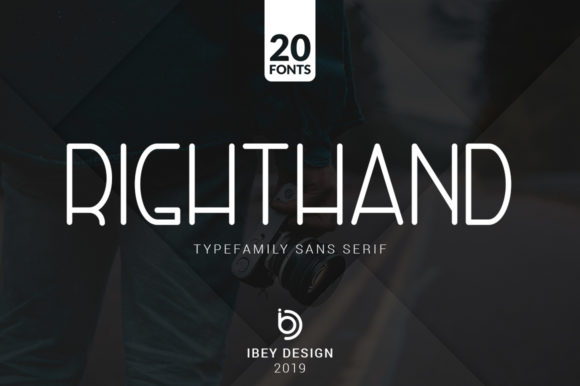 Print on Demand: Righthand Family Sans Serif Font By ibeydesign