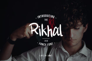 Print on Demand: Rikhal Fancy Display Font By Odbrand Desain