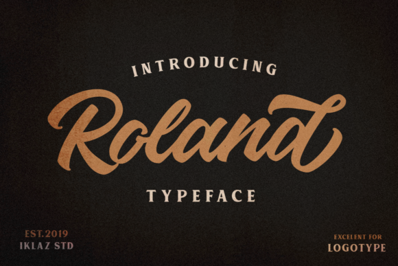 Print on Demand: Roland Script & Handwritten Font By IklazStudio