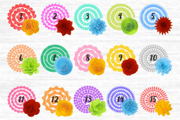 Download Free Rolled Flowers Svg Graphic By Magicartlab Creative Fabrica for Cricut Explore, Silhouette and other cutting machines.