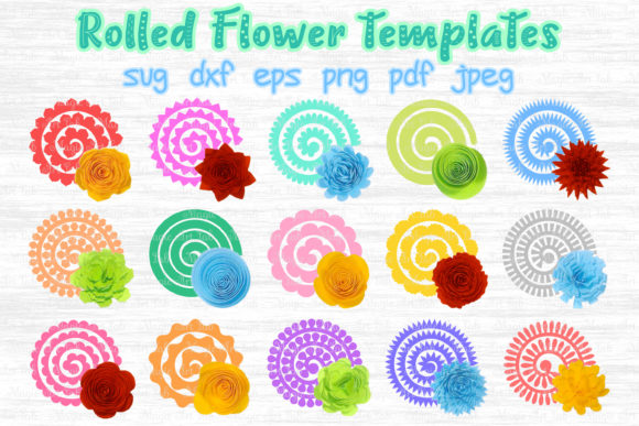 Rolled Flowers SVG Graphic Crafts By MagicArtLab