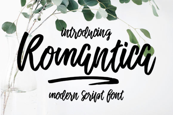 Print on Demand: Romantica Script Script & Handwritten Font By Caoca Studios