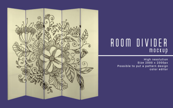 Room Divider Mockup Graphic Product Mockups By LetterStock X Gumacreative - Image 1