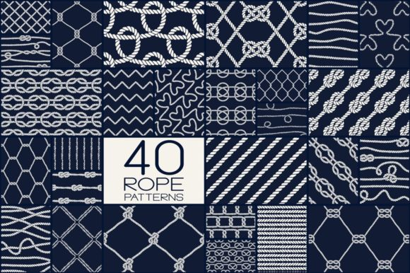 Rope Patterns - Big Set Graphic Patterns By Anastasiia Macaluso