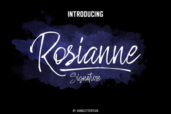 Rosianne Font By yean.aguste Image 1