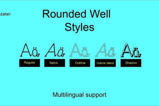 Rounded Well Font By tarymeutia.s
