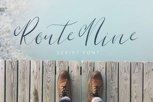 Rout Nine Script Script & Handwritten Font By Creativeqube Design