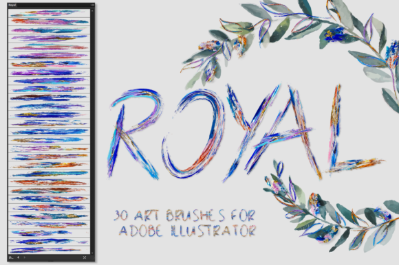Download Free Royal Brushes For Illustrator Grafico Por Faerydesign Creative for Cricut Explore, Silhouette and other cutting machines.