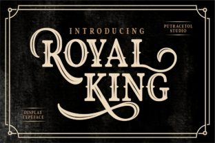 Royal King Font By putracetol