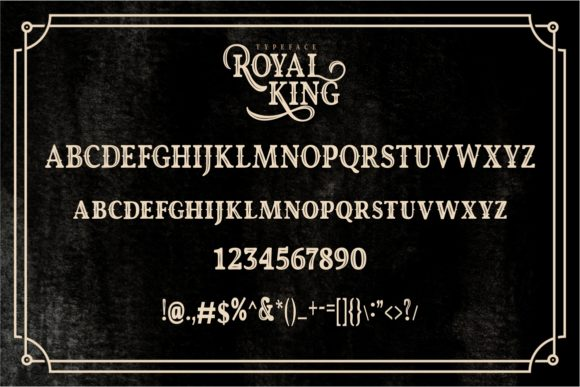 Print on Demand: Royal King Display Font By putracetol - Image 8
