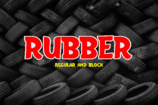 Rubber Font By da_only_aan