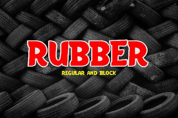 Print on Demand: Rubber Display Font By da_only_aan