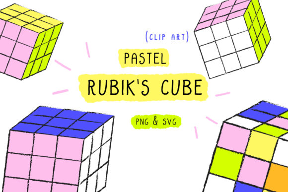 Print on Demand: Rubik's Cube, Cutting File, Clip Art Graphic Icons By Inkclouddesign