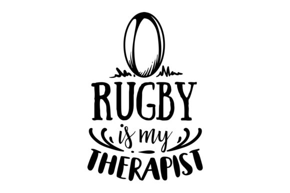 Download Free Rugby Is My Therapist Svg Cut File By Creative Fabrica Crafts for Cricut Explore, Silhouette and other cutting machines.
