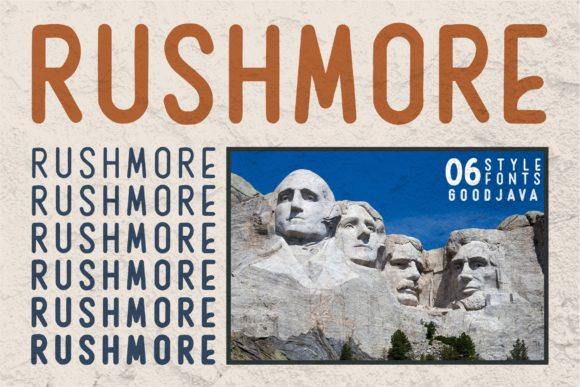 Print on Demand: Rushmore Display Font By goodjavastudio