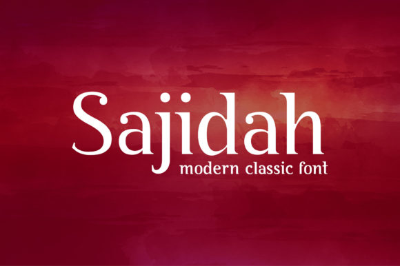 Print on Demand: Sajidah Serif Font By byaboemair - Image 1