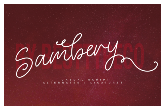 Print on Demand: Sambery Script & Handwritten Font By besttypeco
