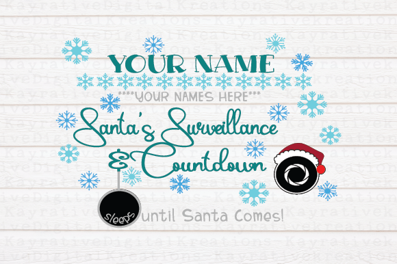 Download Free Santa Countdown And Lookout Graphic By Kayla Griffin Creative for Cricut Explore, Silhouette and other cutting machines.