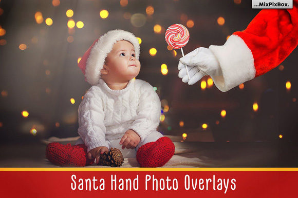 Print on Demand: Santa Hand - PNG Overlays Graphic Layer Styles By MixPixBox