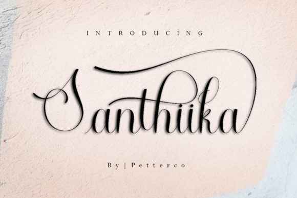 Print on Demand: Santhiika Script & Handwritten Font By Petterco - Image 1