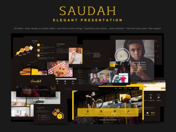 Saudah Elegant PowerPoint Presentation Templates Graphic By rivatxfz